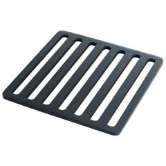 Contemporary Handcrafted Trivet of Anodized Aluminum in US, in Stock