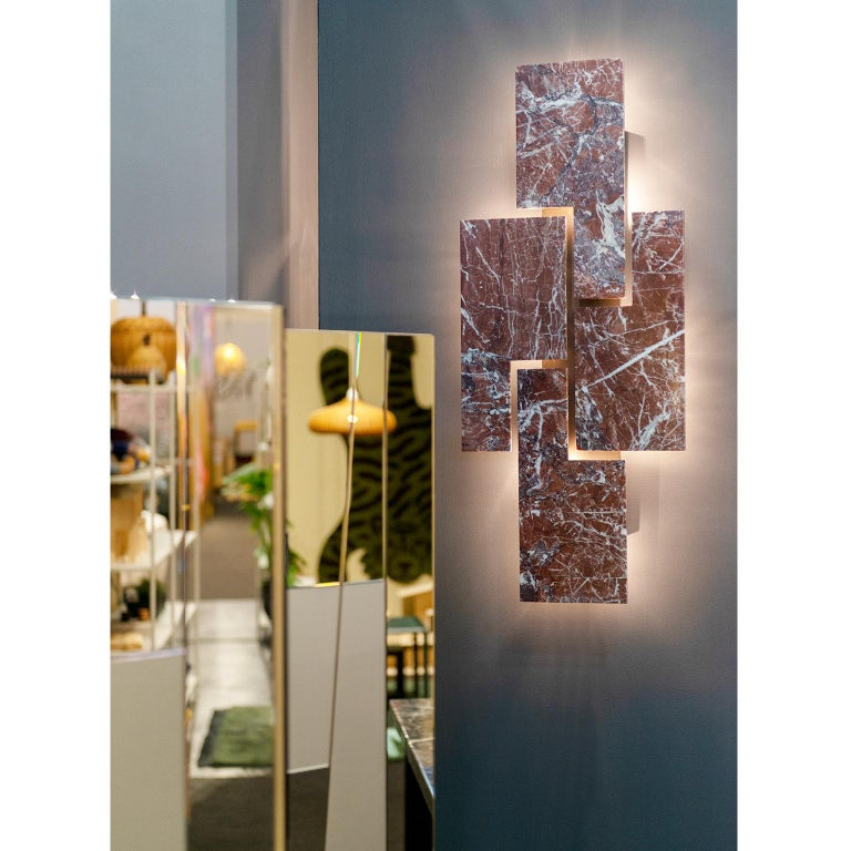 Contemporary, handcrafted wall lamp, model