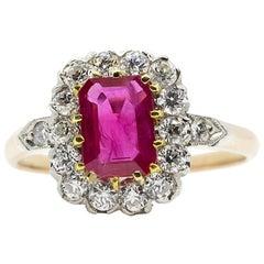 Zeitgenössisch Handmade 18 Karat Gold und Platin und Diamant Ring