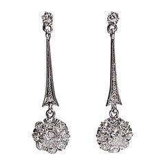 Contemporary Handmade 18 Karat Gold 1 50 Carat Diamond Earrings
