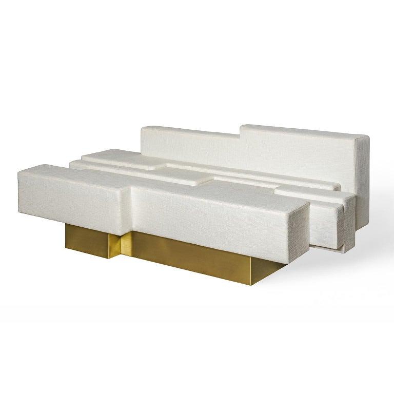 Contemporary, handcrafted, asymmetrical sofa, model