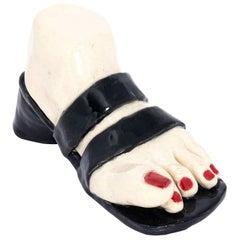 Contemporary Handmade Ceramic Foot