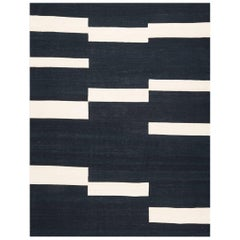 Contemporary Handmade Flatwave Kilim Wool Rug