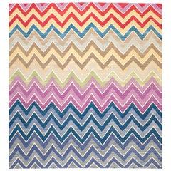 Contemporary Handmade Flatwave Multi-Color Kilim Wool Rug