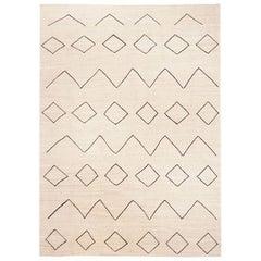 Contemporary Handmade Kilim Wool Rug