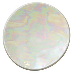 Contemporary Handmade Mother of Pearl Ceramic Dish Catchall