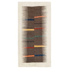 Contemporary Handmade Persian Flat-Weave Kilim Accent Rug