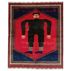 Contemporary Handmade Pictorial Room Size Rug of Frankenstein