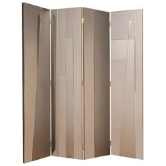 "Contemporary Handmade Room Divider ""Aether"" with Mirrored Surfaces by Anaktae"