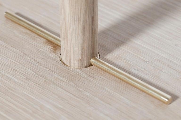 Brass Contemporary Handmade Scandinavian Side Table or Stool