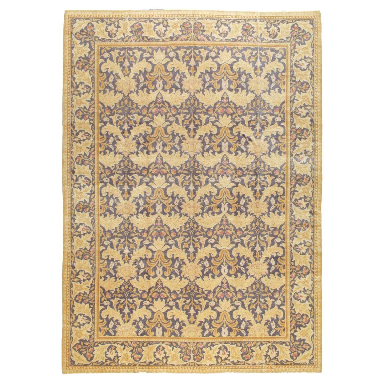 Contemporary Handmade Spanish Arts & Crafts Cuenca Room Size Carpet