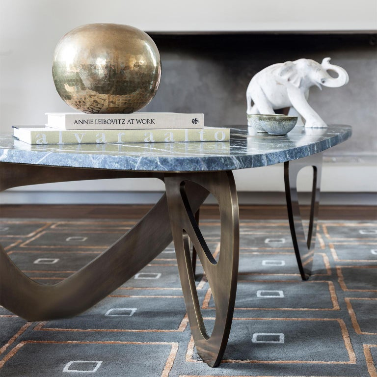 Contemporary, handcrafted coffee table model