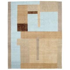 Contemporary Handmade Tibetan Art Deco Room Size Carpet