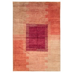 Contemporary Handmade Turkish Art Deco Style Accent Rug
