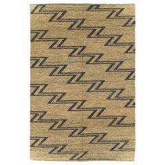 Contemporary Handmade Turkish Flatweave Kilim Accent Rug