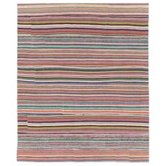 Contemporary Handmade Turkish Flat-Weave Kilim Colorful Room Size Rug