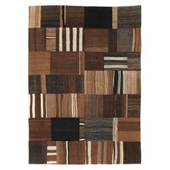 Contemporary Handmade Turkish Flatweave Kilim Room Size Carpet