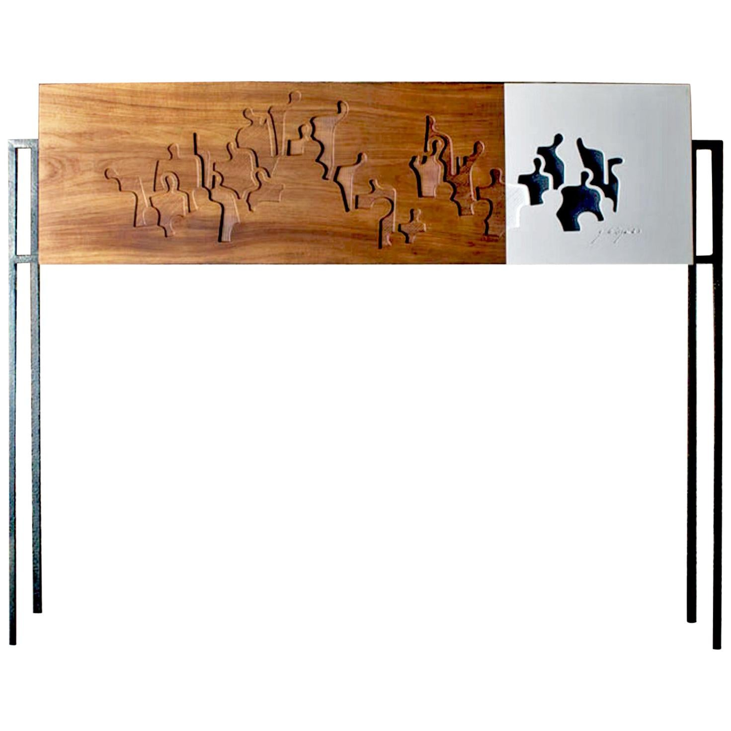 Contemporary Handmade Unique Sideboard or small Davenport made in France