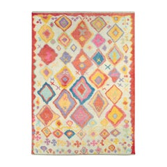 Contemporary Handmade Whimsical Turkish Plush Room Size Rug