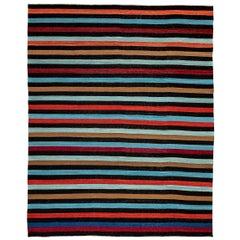 Contemporary Handmade Wool Kilim Multi-Color Rug