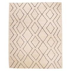 Contemporary Handmade Wool Kilim Rug