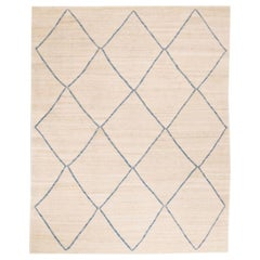 Contemporary Handmade Wool Kilim Rug