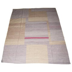 Contemporary Handwoven Kilim Rug from Pakistan