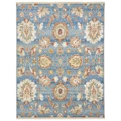 """Contemporary Handwoven """"Sky"""" Carpet"""