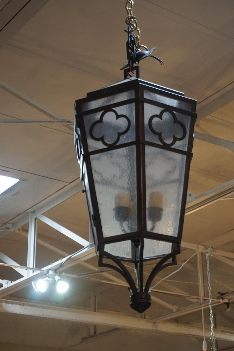 Contemporary Hanging Lantern In Good Condition For Sale In Dallas, TX