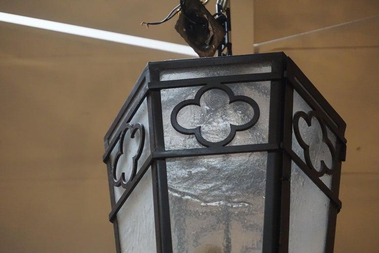 Aluminum Contemporary Hanging Lantern For Sale