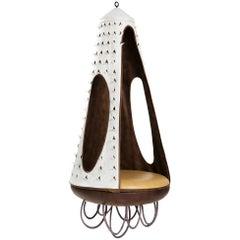 Zeitgenössischer Hängestuhl aus Leder