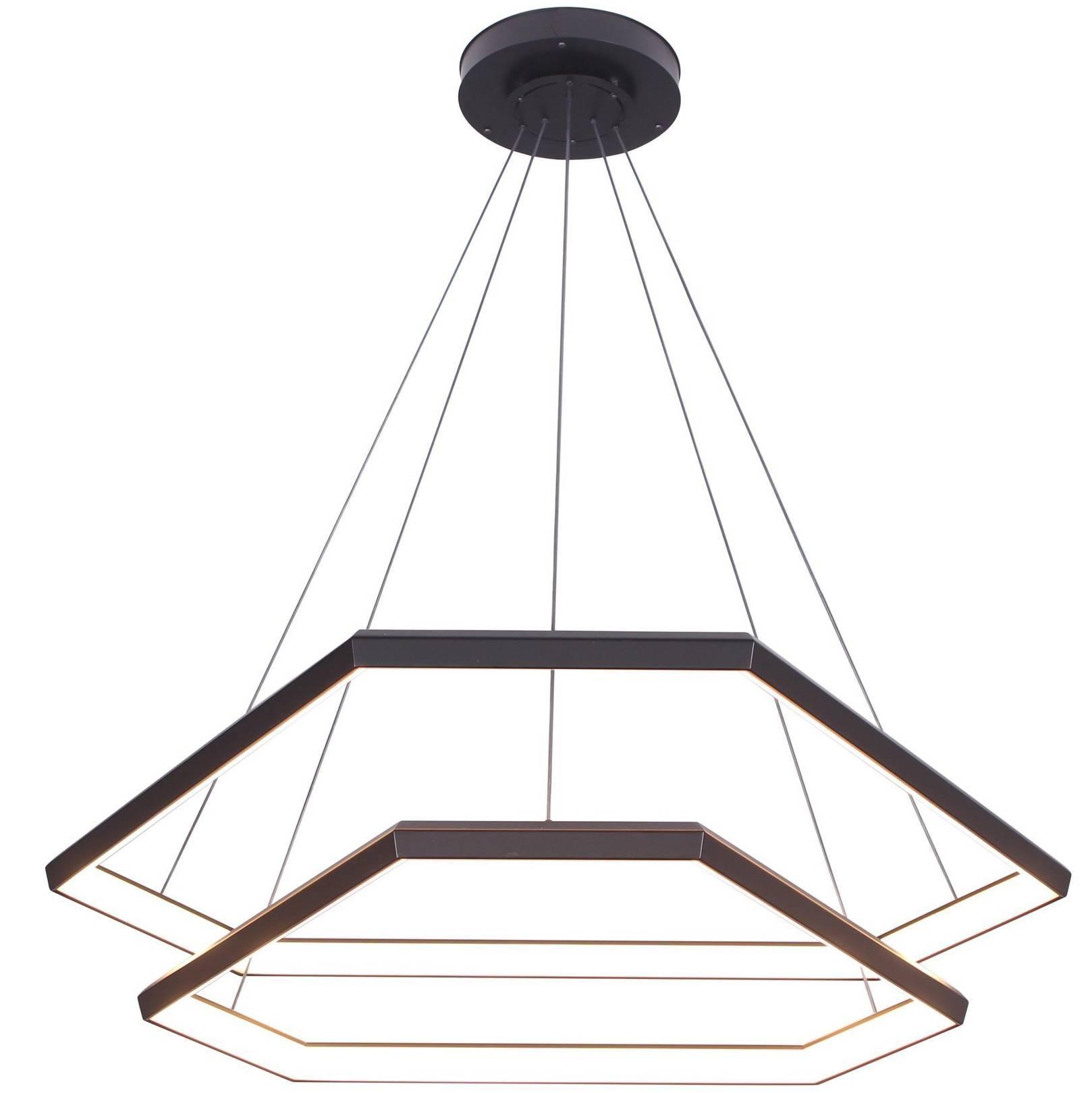DITRI CASCADE DXC43 - Black Hexagon Modern Chandelier Light Fixture