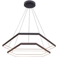 DITRI CASCADE DXC43 - Black Hexagon Modern Chandelier Light Fixture
