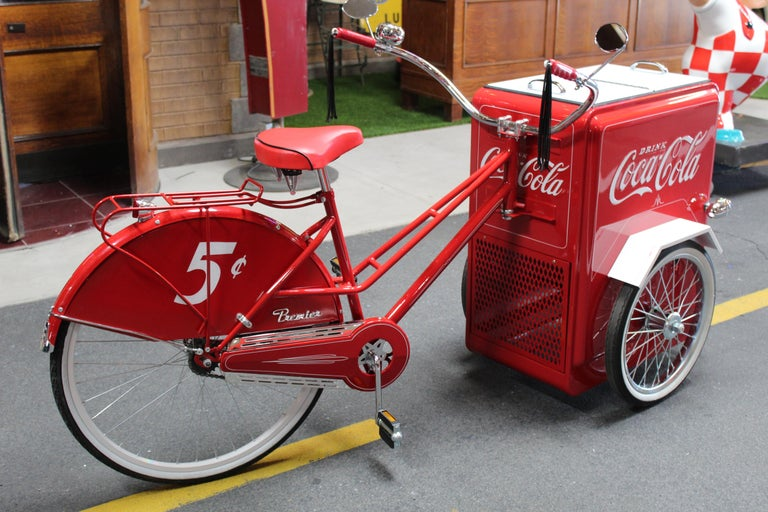 Contemporary Huffy Coca Cola Cooler Tricycle Vendor Bike For Sale 7