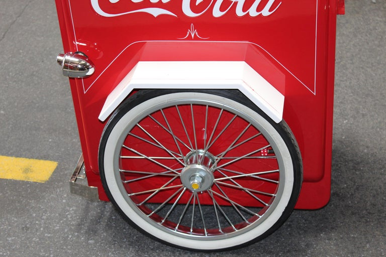 American Contemporary Huffy Coca Cola Cooler Tricycle Vendor Bike For Sale