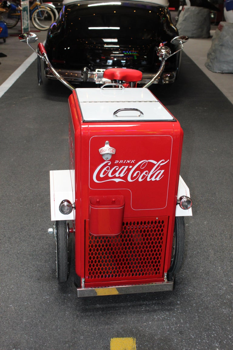 Metal Contemporary Huffy Coca Cola Cooler Tricycle Vendor Bike For Sale