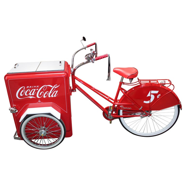 Contemporary Huffy Coca Cola Cooler Tricycle Vendor Bike For Sale