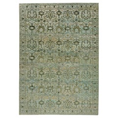 Contemporary Indian Inspired Design II Hand Knotted Wool Rug
