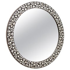 Contemporary Indian Mughal Style Round Mirror