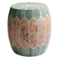 Contemporary Indoor or Outdoor Stone Side Table/Stool