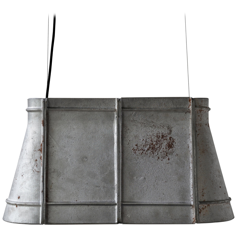 Contemporary Industrial Pendant Lamp 'Zero' in Aluminum 'Large'