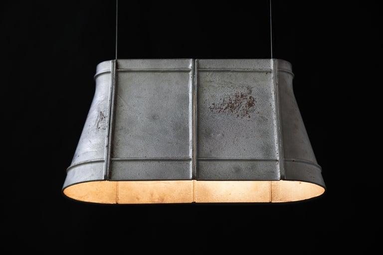 Chinese Contemporary Industrial Pendant Lamp 'Zero' in Aluminum 'Medium' For Sale