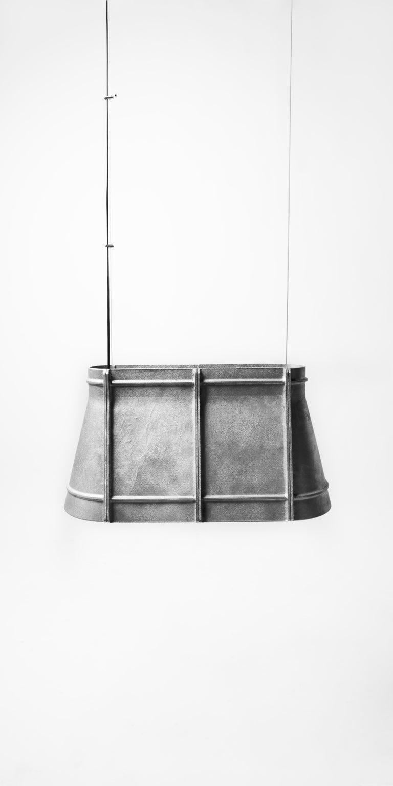 Contemporary Industrial Pendant Lamp 'Zero' in Aluminum 'Medium' For Sale 3
