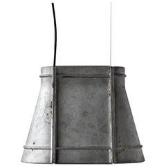 Contemporary Industrial Pendant Lamp 'Zero' in Aluminum 'Medium'