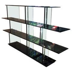 Contemporary Inori Glass Bookcase by Setsu & Shinobu Ito for Fiam Italia