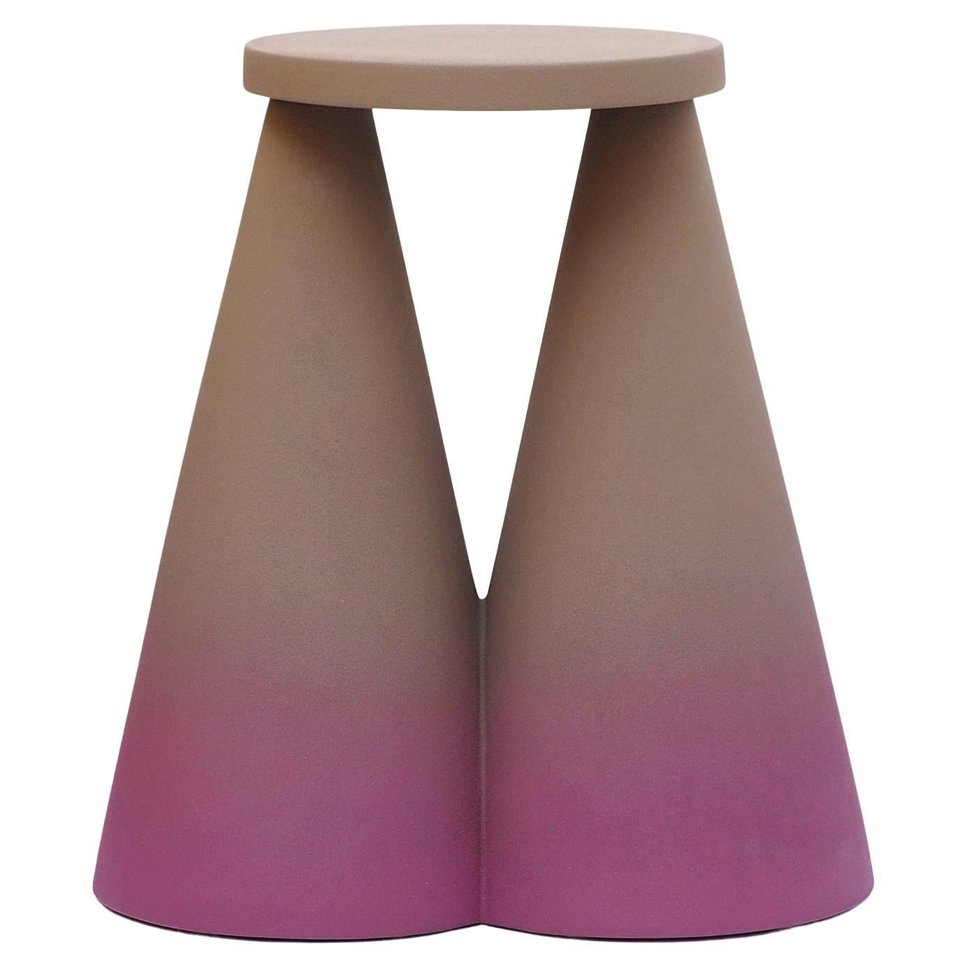 Contemporary Isola Purple Coffee Table in Ceramic by Cara\Davide for Portego