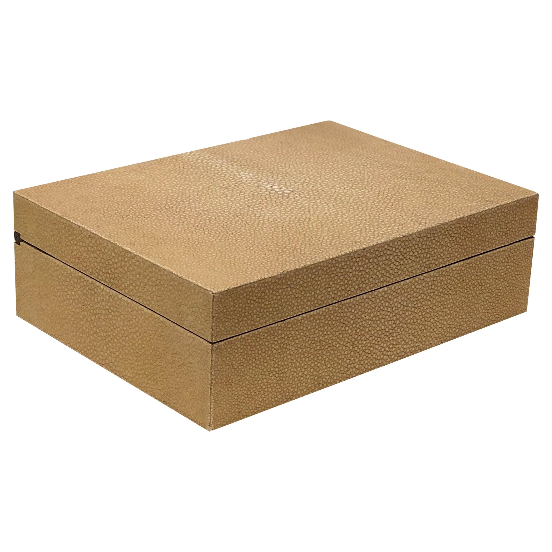 Contemporary Italian Beige Shagreen Box