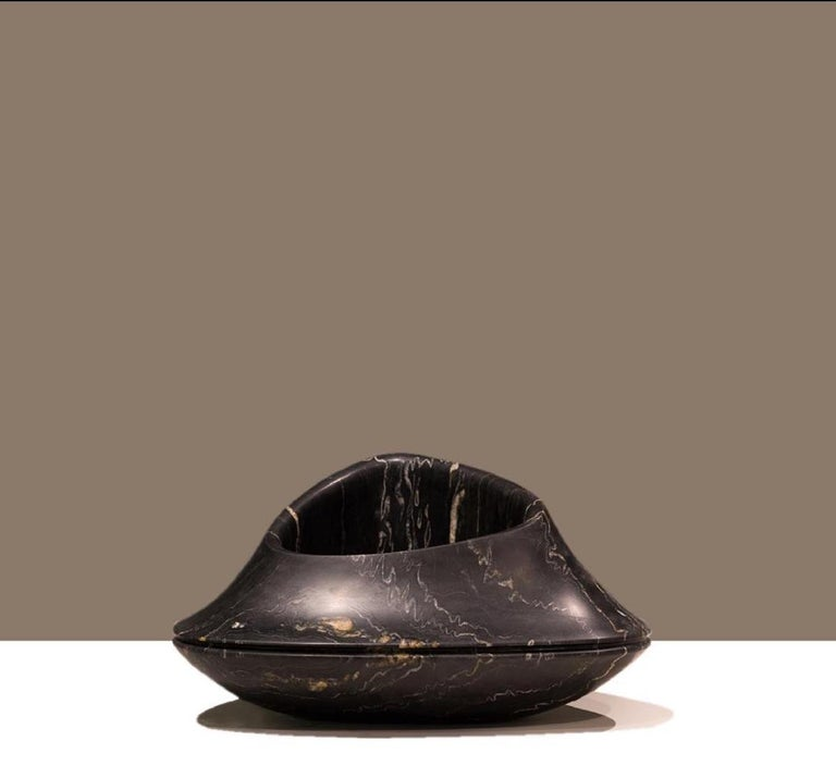 Contemporary Italian Black Marble Vase Designed by Ora Ito For Sale 3