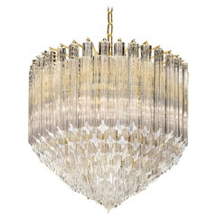 Contemporary Italian Crystal 'Cake' Chandelier