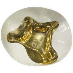 Contemporary Italian Gold Leaf Bowl